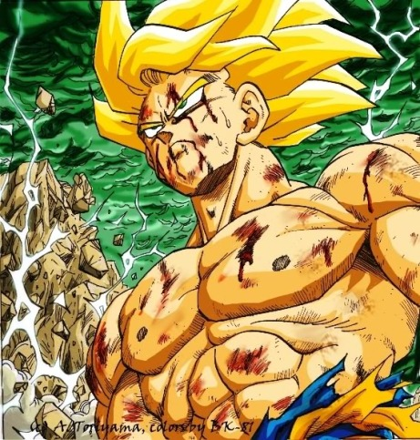 Goku_ssj_on_namek_manga_col_by_BK_8